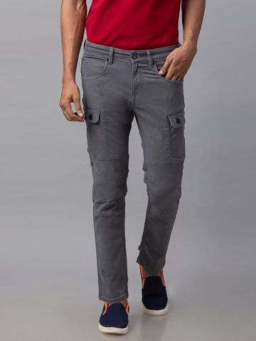 Spykar   Spykar Grey Cotton Slim Fit Jeans (Slim)