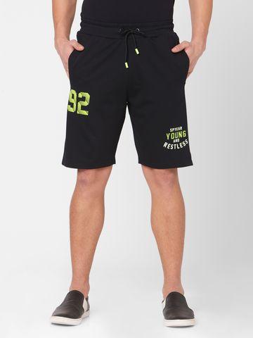 spykar | Spykar Blue Cotton Relax Fit Shorts