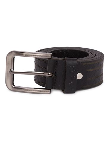 spykar | Spykar Black Leather Belts