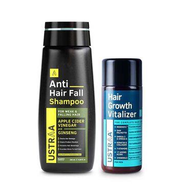 Ustraa | Hair Growth Vitalizer & Anti Hair Fall Shampoo(Pack of 2)