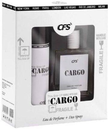 CFS | CFS CARGO WHITE 100ML PERFUME WITH 200ML CARGO WHITE DEODORANT | LONG LASTING BEST PERFUME & DEODORANT  (2 Items in the set)