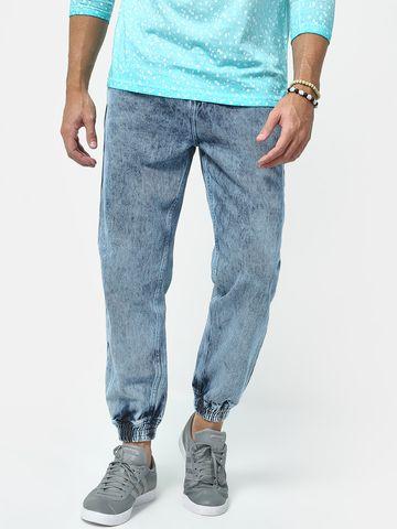 Blue Saint | Blue Saint Men's Blue Loose Fit Jeans