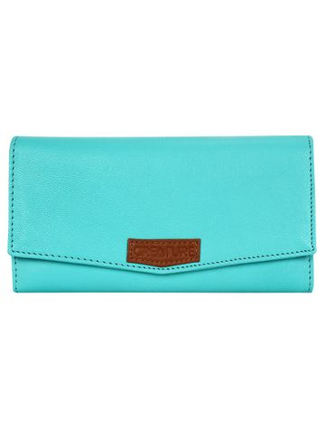 CREATURE | CREATURE Turquoise Blue Stylish Genuine Leather Clutch for Women