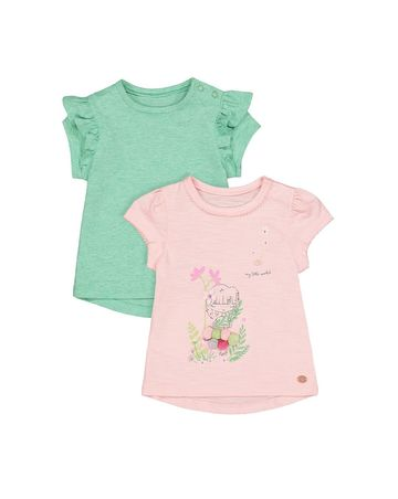 Mothercare | Green & Pink Printed Top - Pack of 2