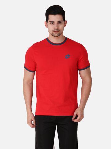Lotto   Lotto Men's Wren Vi Tee Rn Sm Red Spa T-Shirt