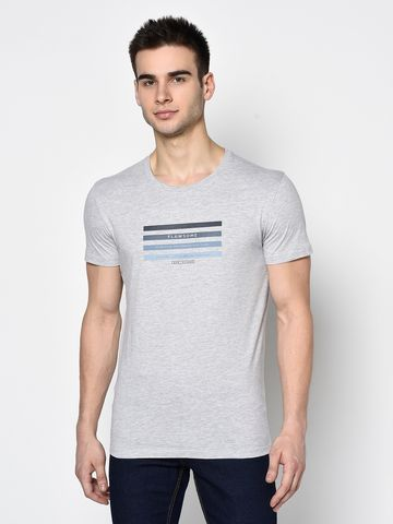 OCTAVE | Men GREY MELANGE T-Shirts
