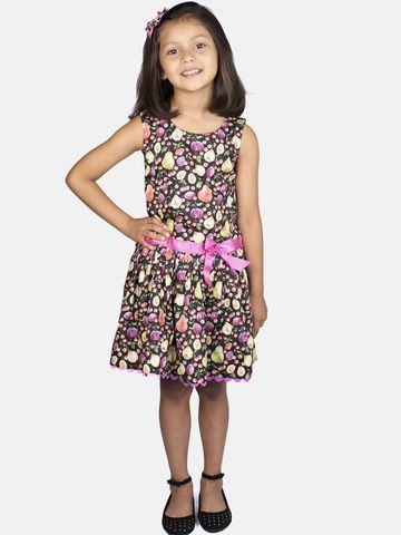 Ribbon Candy   RIBBON CANDY Girl's Fruit Print- Low Waist Fit and Flare Dress
