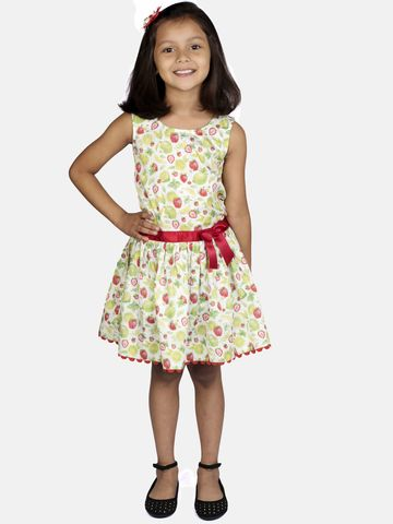 Ribbon Candy | RIBBON CANDY Girl's Strawberry Print- Low Wiast Fit and Flare Dress