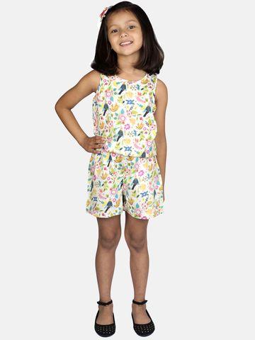 Ribbon Candy   RIBBON CANDY Girl's Bird Print- Jumpsuit