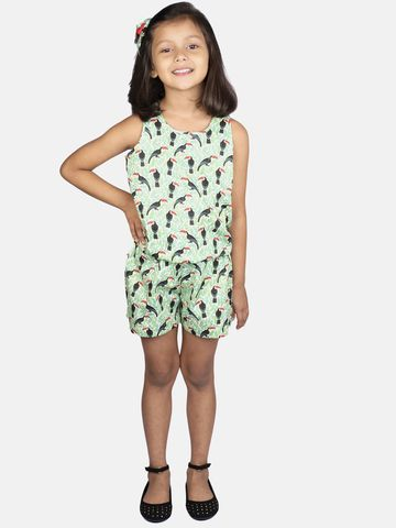 Ribbon Candy | RIBBON CANDY Girl's Toucan Print- Jumpsuit
