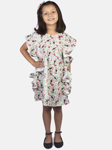 Ribbon Candy | RIBBON CANDY Girl's Bird Print- A Line Dress