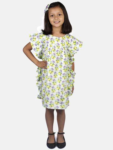 Ribbon Candy | RIBBON CANDY Girl's Lemon Print- A Line Dress