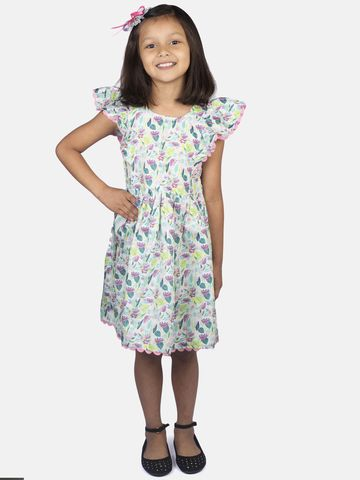 Ribbon Candy   RIBBON CANDY Girl's Flower print dress Fit & Flair