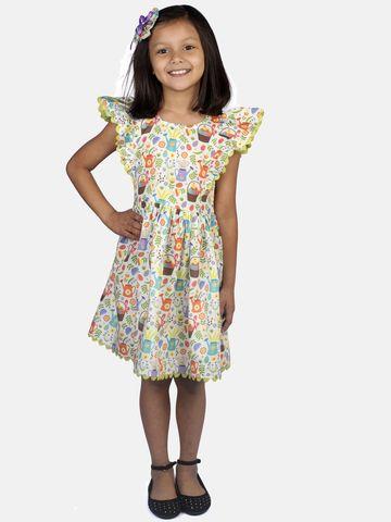 Ribbon Candy   RIBBON CANDY Girl's Garden print dress Fit & Flair