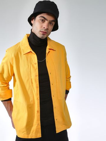 Blue Saint   Blue Saint Men's Yellow Slim Fit Denim Jackets