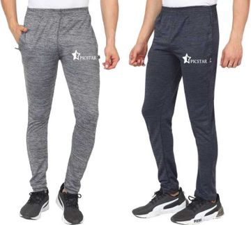 Picstar | PICSTAR Men's Grey and Black Trackpants Combo
