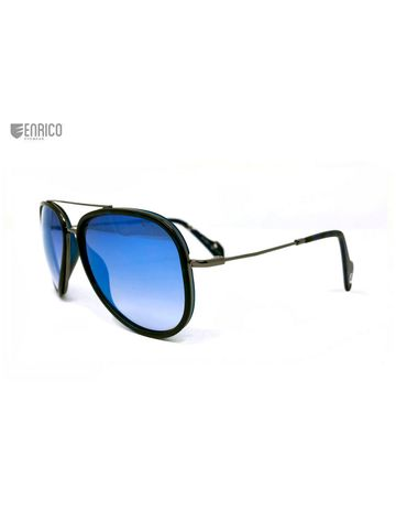 ENRICO | ENRICO Aviacus UV Protected & Polarized Aviator Sunglasses for Men ( Lens - Mirrored | Frame - Blue)