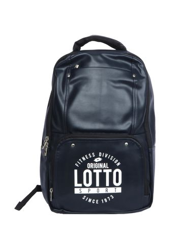 Lotto | Lotto Laptop Back Pack Script Navy Blue