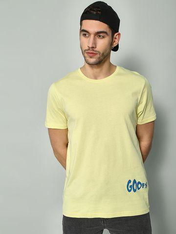 Blue Saint | Blue Saint Men's Yellow Regular Fit T-Shirts