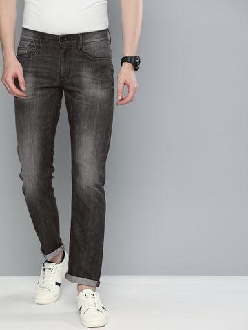 American Bull | American Bull Men Cotton Casual Slim Fit Black Jeans