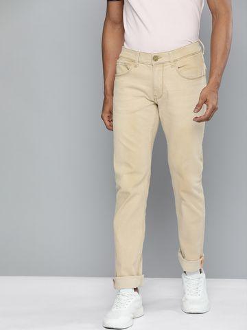 American Bull | American Bull Men Cotton Casual Slim Fit Beige Jeans