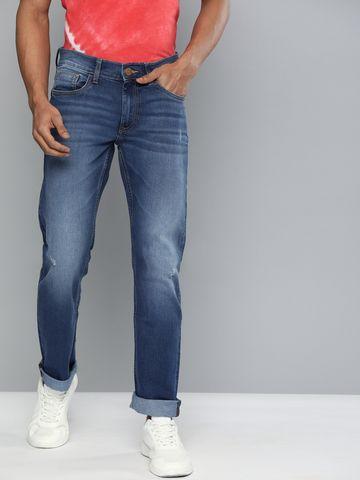 American Bull | American Bull Men Cotton Casual Slim Fit Blue Jeans