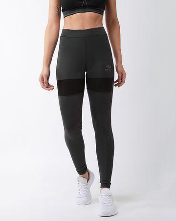 Masch Sports | Masch Sports Women's Solid Sports Running/Regular/Sports/Gym Wear Tights with White Thigh Panel