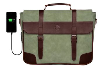SCHARF | SCHARF Walt 15.6 Leather Laptop-MacBook Travel Shoulder Sleeve Crossbody Messenger Briefcase Bags.