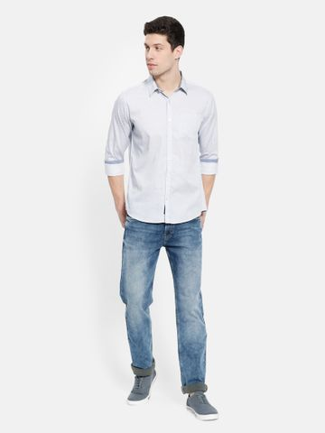 METTLE | Men WHITE Casual Shirts