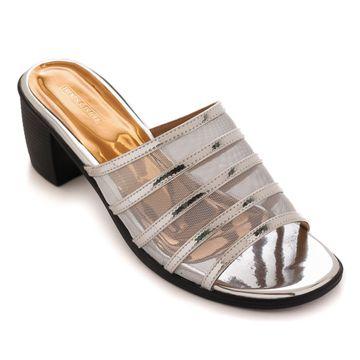 Trends & Trades | Womens Silver Transparent Block Heels