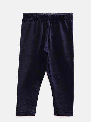 Ethnicity   Ethnicity Ankel Length Fashion Kids Navy Knit Legging