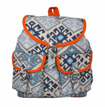 Vivinkaa   Vivinkaa Azo Orange abstract canavs Backpack