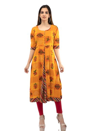 becoming | Flared plated A line kurti