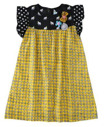 Popsicles Clothing | Popsicles Lemon Pop Dress Regular Fit Dress For Girl