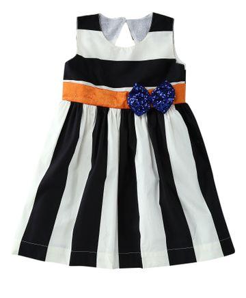 Popsicles Clothing | Popsicles Ebony  Ivory Dress Regular Fit Dress For Girl