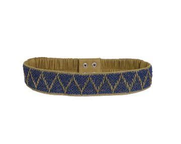 DIWAAH   Diwaah Blue Color Casual Embellished Belt