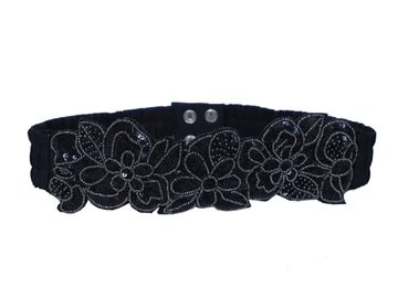 DIWAAH | Diwaah Black Color Casual Embellished Belt
