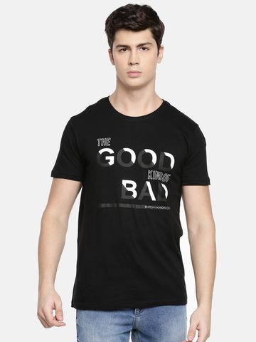Bliston | Bliston Men's Round Neck Block print Causal Tshirt