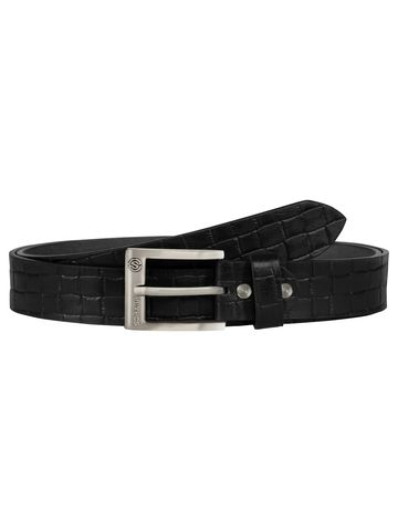 SCHARF | SCHARF Pepe Artur Croco-Black Leather Belt BMB35