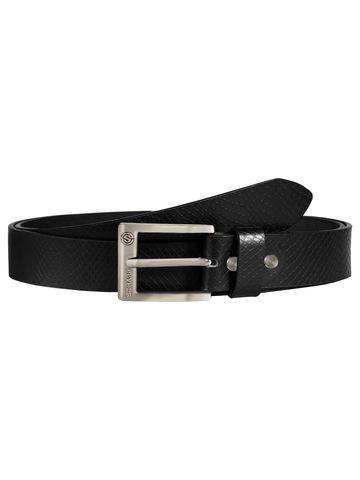 SCHARF | SCHARF Pepe Artur Snake-Black Leather Belt BMB37