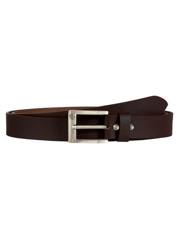 SCHARF | SCHARF Pepe Artur Mini box-Brown Leather Belt BMB38