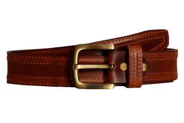 SCHARF | SCHARF Casual Leather Men's Belt MBMC23-Black