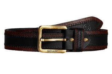 SCHARF | SCHARF Casual Leather Men's Belt MBMC25-Brown/Black