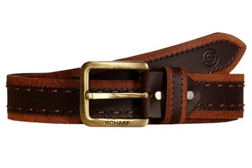 SCHARF | SCHARF Casual Leather Men's Belt MBMC26-Tan/Brown