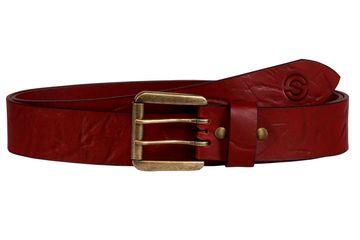 SCHARF | SCHARF Casual Leather Men's Belt Red