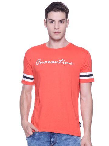 Braveo | Braveo Men's Round Neck Chest Print Tshirt