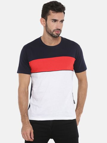 Braveo | Round neck tshirt with Cut & sew detailing