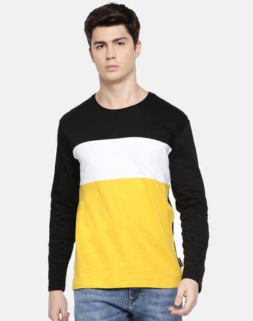Braveo | Colourblock round neck full sleeve tshirt