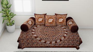 Pinkblock.in | Batic Diwan Set 100% Cotton Set of 6 Pcs