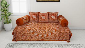Pinkblock.in   Batic Diwan Set 100% Cotton Set of 6 Pcs